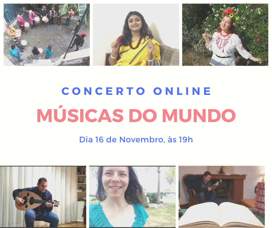 Online concert of songs from around the world